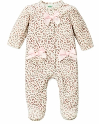 Little Me Newborn Girls Leopard Velour Footie - sold out