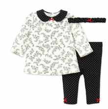 Little Me Newborn Girls Toile Pant Set