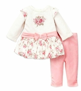 Little Me Rose Bouquet Tunic and Legging Set