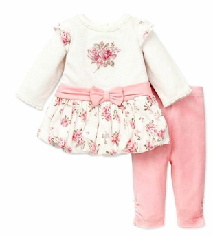 Little Me Rose Bouquet Tunic and Legging Set - SOLD OUT