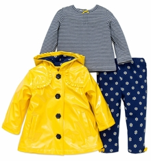 Little Me Sunny Yellow Legging, Top and Jacket Set