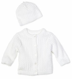 Little Me Unisex-baby Newborn Lovable Cable Sweater