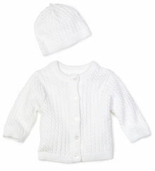 Little Me Unisex-baby Newborn Lovable Cable Sweater - sold out