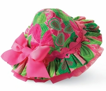 Little Sprout Green Fuchsia Ruffley Hat