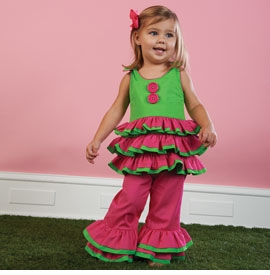 Little Sprout Ruffle Halter Top and Ruffle Capris -sold out