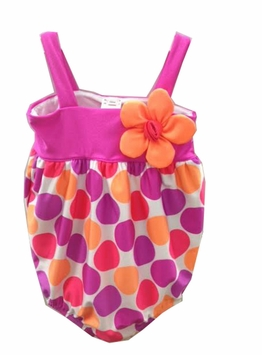 Love U Lots Baby Girls Beautiful Dotted Halter One Piece Swimsuit