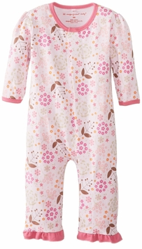Magnificent Baby Girls Mod Floral Unionsuit - Magnetic Closure - sold out