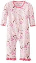 Magnificent Baby Girls Mod Floral Unionsuit - Magnetic Closure