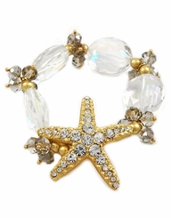 Matte Gold Women's Starfish Stretch Bracelet - sold out