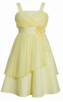 Mesh Yellow Special Occasion Dress