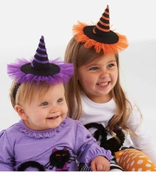 Mini WItch Hat Headbands - Choose Color  FINAL SALE