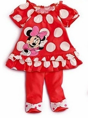 Minnie Mouse Inspired Legging Set -  Red Polka Dot - Out of Stock