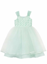 Mint Bodice Linen Special Occasion Dress