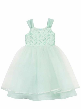 Mint Bodice Linen Special Occasion Dress - SOLD OUT