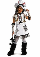 Monster Bride Costume - White - with Gloves and Tights
