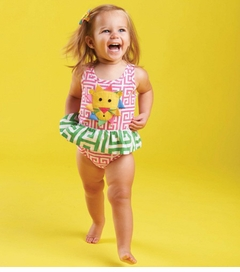 Mud Pie Baby-Infant Girls Lion Swimsuit One Piece 6-9 months