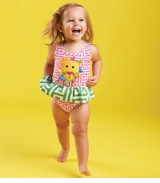 Mud Pie Baby-Infant Girls Lion Swimsuit One Piece