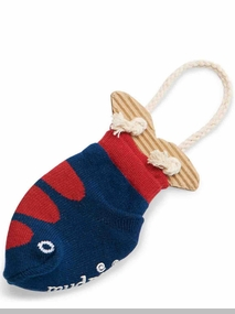 Mud Pie Baby Boys Blue Fish Socks