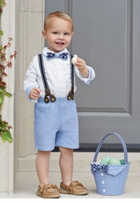 Mud Pie Baby-Boys Chambray 3 Pc Suit Set - SOLD OUT