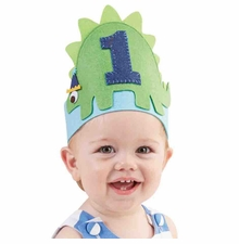 Mud Pie Baby Boys Dino Birthday Crown - sold out