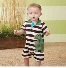 Mud Pie Baby Boys Dino Polo One-Piece