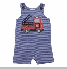 Mud Pie Baby Boys Firetruck Shortall
