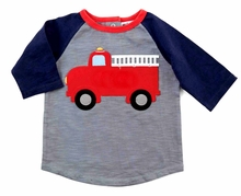 Mud Pie Baby-Boys Firetruck Tee - sold out