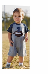 Mud Pie Baby-Boys Football Birthday Shortall - out of stock