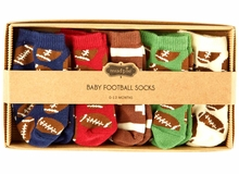 Mud Pie Baby-Boys Football Giftable Sock Set - 5 Pairs - sold out