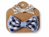 Mud Pie Baby Boys Gingham Bow Tie