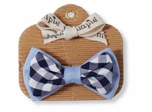 Mud Pie Baby Boys Gingham Bow Tie - SOLD OUT