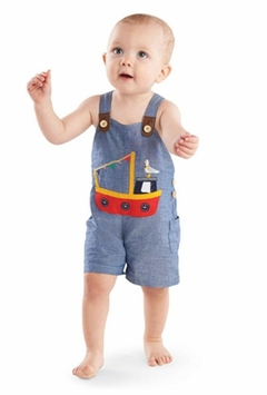 Mud Pie Baby-Boys Infant Tug Boat Overall 12-18 months