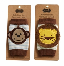 Mud Pie Baby Boys Lion or Monkey Knee Pads CHOOSE ONE