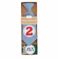 Mud Pie Baby Boys Monthly Milestone Tie