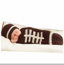 Mud Pie Baby-Boys Newborn Knit Football Bunting and Hat Photography Set