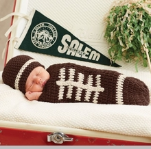 Mud Pie Baby-Boys Newborn Knit Football Bunting and Hat Photography Set  - sold out
