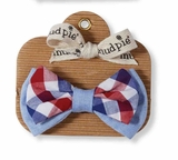 Mud Pie Baby Boys Plaid  Bow Tie
