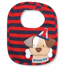Mud Pie Baby Boys Puppy Birthday Bib