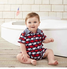 Mud Pie Baby-Boys Whale Preppy Polo Shortall - sold out