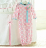 Mud Pie Baby Chick Gown and Pacifier Clip Set