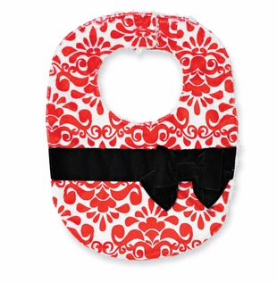 Mud Pie Baby Girl's Bibs: Red Infant Girl's Holiday Bib