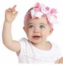 Mud Pie Baby Girl's Bunny Stretch Headband - sold out