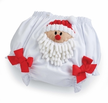 Mud Pie Baby Girl's Christmas Santa Bloomers 12-18 month LAST ONE