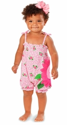 Mud Pie Baby Girls 2 Pc Set Rose Bubble with Headband Bow