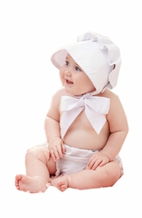 Mud Pie Baby Girls Baby Bonnet - out of stock