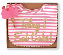 Mud Pie Baby Girls Bib Cake Smashing Set - Bib Set - sold out