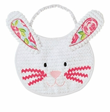 Mud Pie Baby Girls Bunny Bib