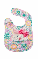 Mud Pie Baby-Girls Bunny Pocket Bib & Bow - SOLD OUT
