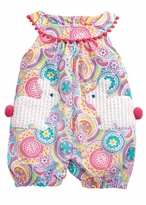 Mud Pie Baby-Girls Bunny Pocket Romper