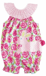 Mud Pie Baby Girls 2 Pc Set: Easter Bunny Floral Bubble and Pink Hair Clip